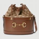 Gucci Horsebit Çanta Kadın Kahverengi