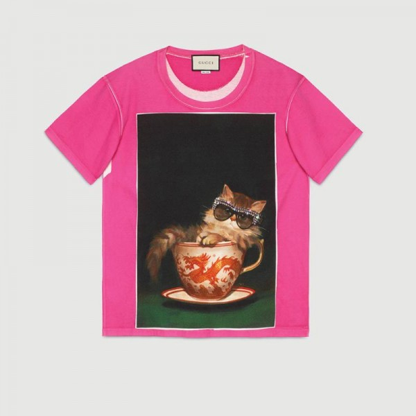 Gucci Ignasi Monreal Tişört Fuşya Kadın