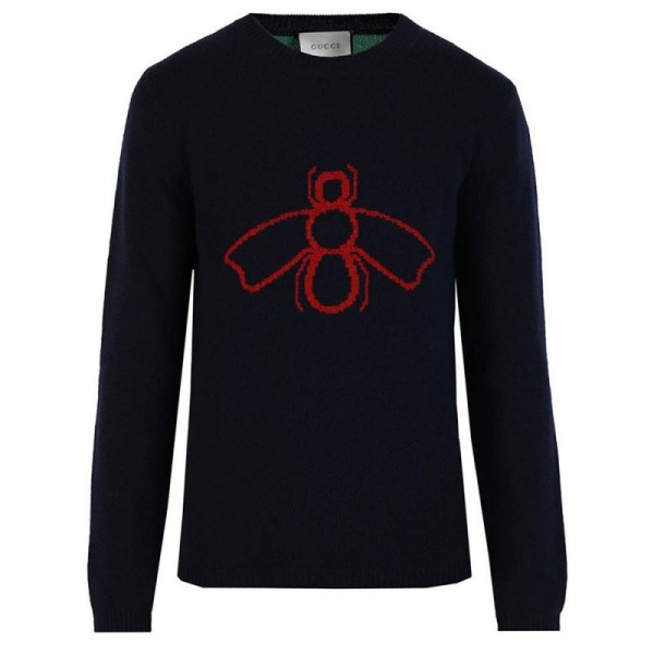 Gucci Intarsia Sweatshirt Siyah Erkek