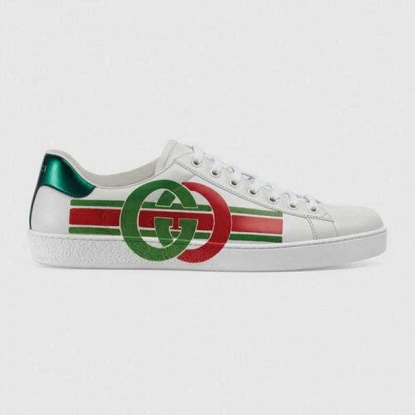 Gucci Interlocking Ayakkabı Erkek Beyaz
