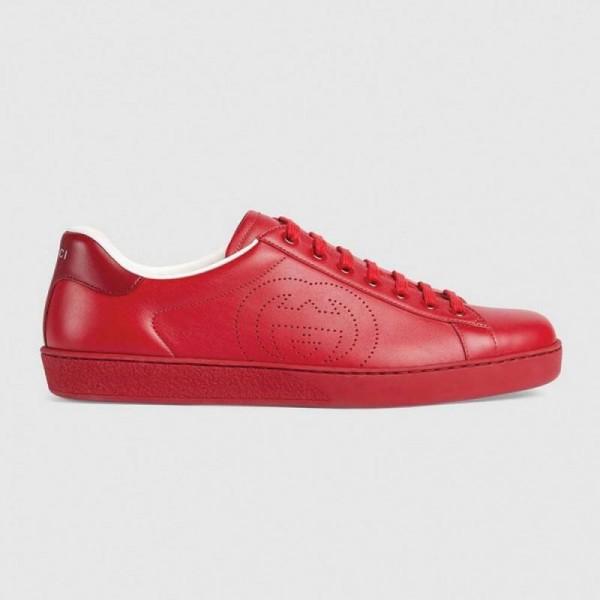Gucci Interlocking Ayakkabı Erkek Kırmızı