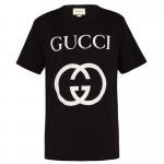 Gucci Interlocking Tişört Erkek Siyah