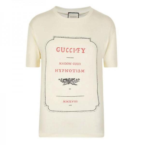 Gucci Invitation Tişört Beyaz Erkek