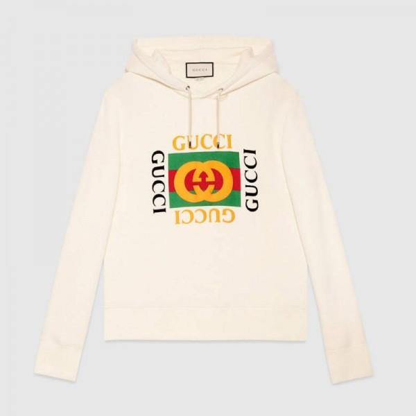 Gucci Jersey Sweatshirt Beyaz Erkek