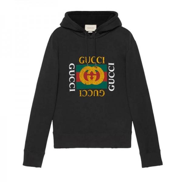 Gucci Jersey Sweatshirt Siyah Erkek