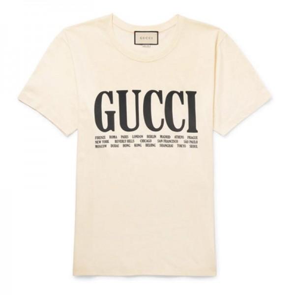 Gucci Jersey Tişört Beyaz Erkek