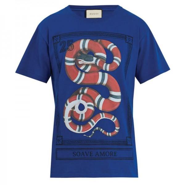 Gucci Jersey Tişört Mavi Erkek