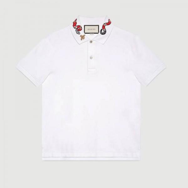 Gucci Kingsnake Tişört Beyaz Erkek