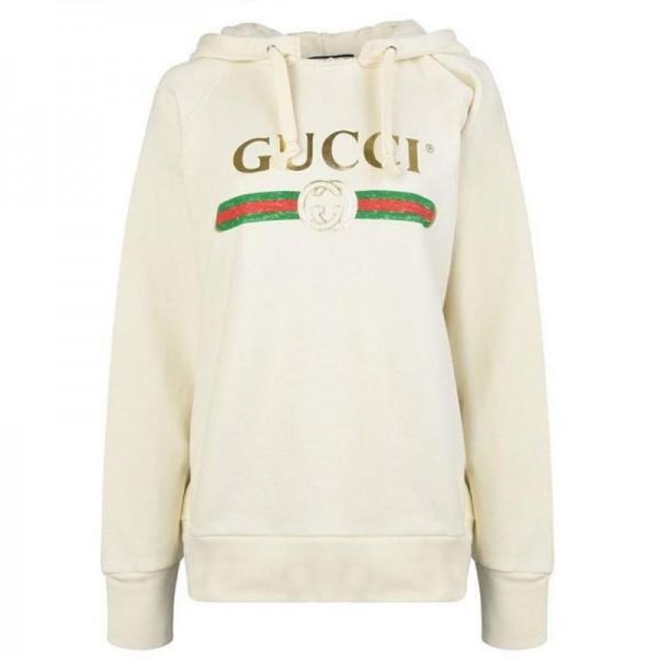 Gucci Logo Sweatshirt Beyaz Kadın