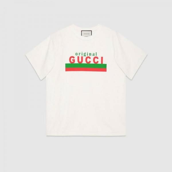 Gucci Logo Tişört Erkek Beyaz