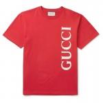 Gucci Logo Tişört Erkek Kırmızı