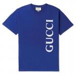Gucci Logo Tişört Erkek Mavi