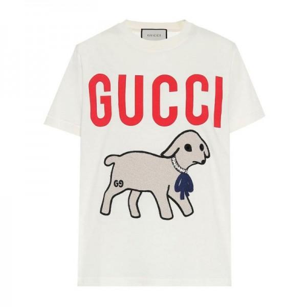 Gucci Logo Tişört Kadın Beyaz