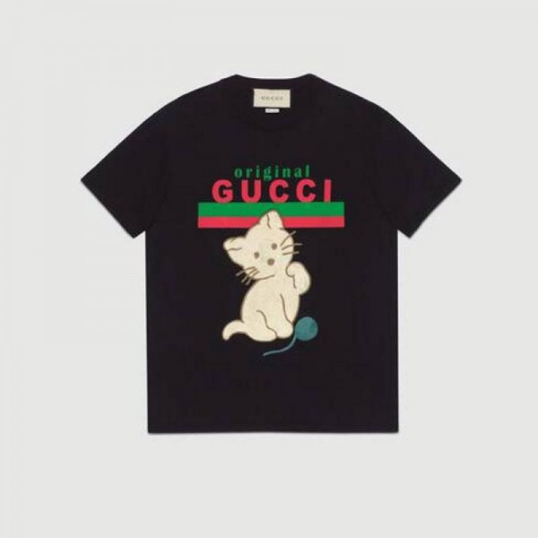 Gucci Logo Tişört Kadın Siyah