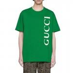 Gucci Logo Tişört Kadın Yeşil