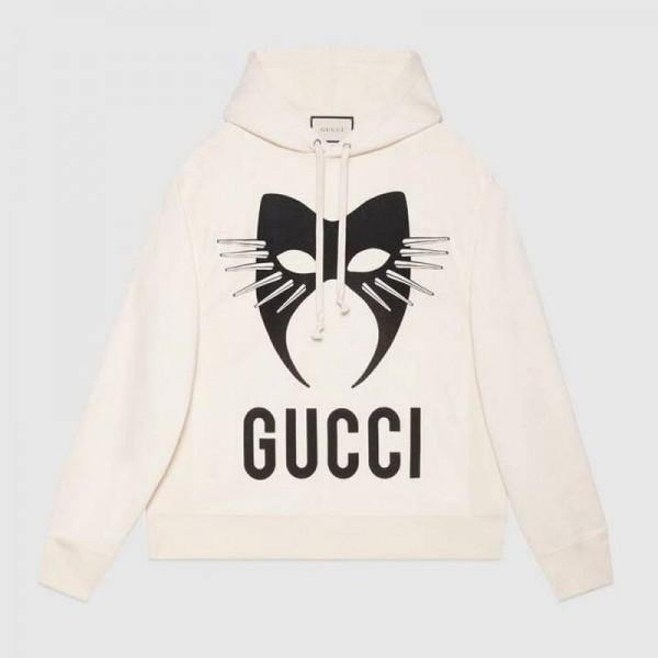 Gucci Manifesto Sweatshirt Erkek Beyaz