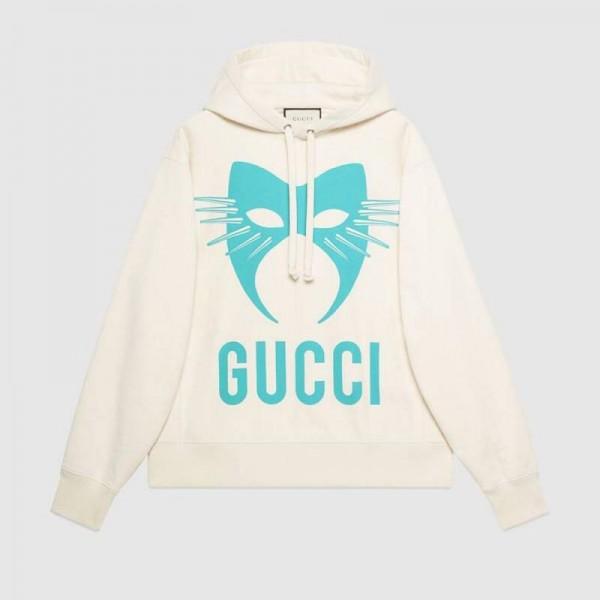 Gucci Manifesto Sweatshirt Kadın Beyaz