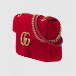 Gucci Marmont Medium Çanta Kırmızı Kadın