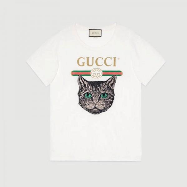 Gucci Mystic Tişört Beyaz Kadın
