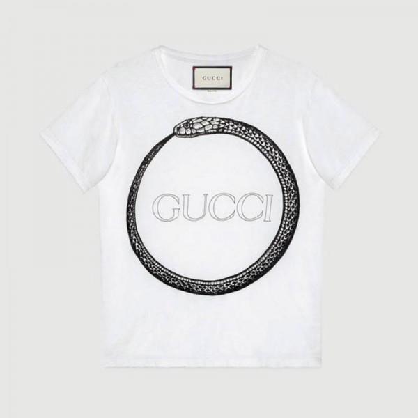 Gucci Ouroboros Tişört Beyaz Erkek