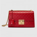 Gucci Padlock Medium Çanta Kırmızı Kadın