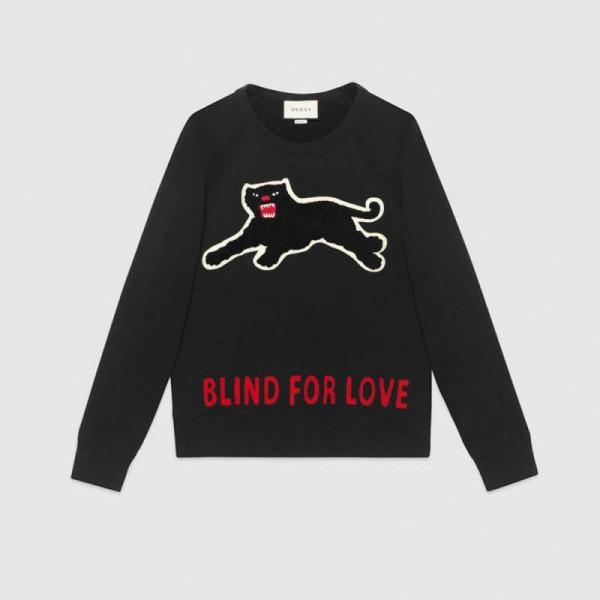 Gucci Panther Sweatshirt Siyah Erkek