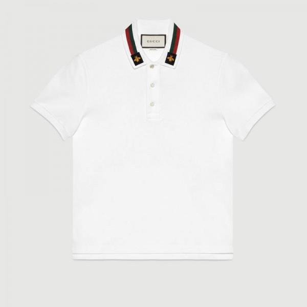 Gucci Polo Tişört Beyaz Erkek