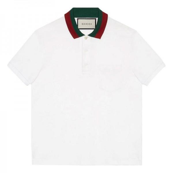 Gucci Polo Tişört Erkek Beyaz