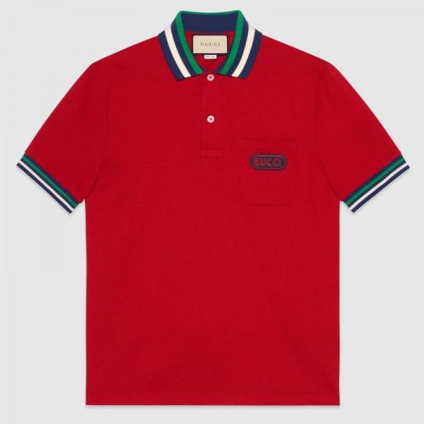 Gucci Polo Tişört Erkek Kırmızı