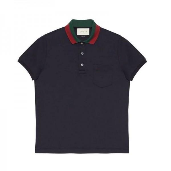 Gucci Polo Tişört Erkek Lacivert