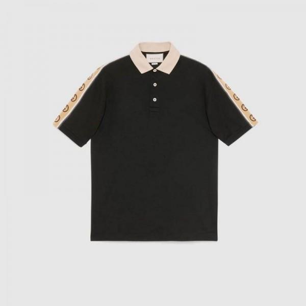 Gucci Polo Tişört Erkek Siyah