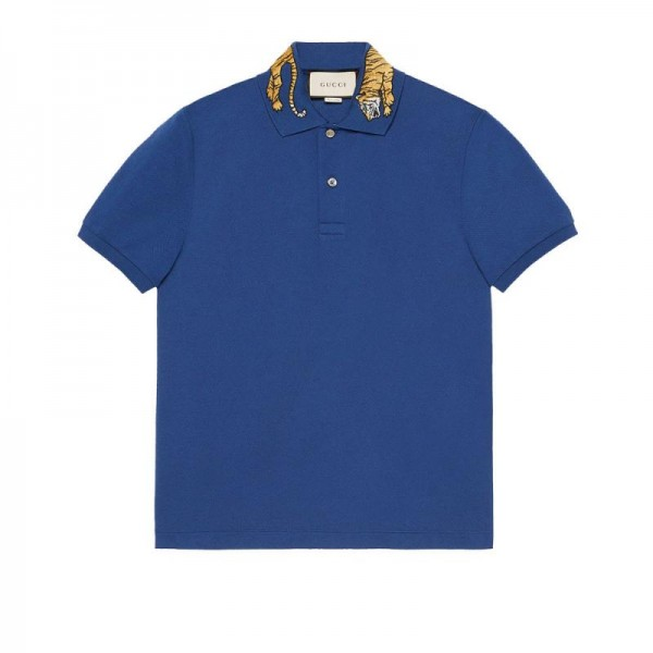 Gucci Polo Tişört Mavi Erkek