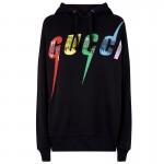 Gucci Rainbow Sweatshirt Kadın Siyah