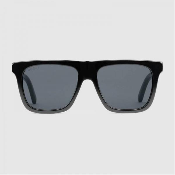 Gucci Rectangular Gözlük Siyah Kadın
