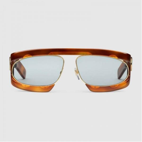 Gucci Rectangular Gözlük Tortoise Kadın