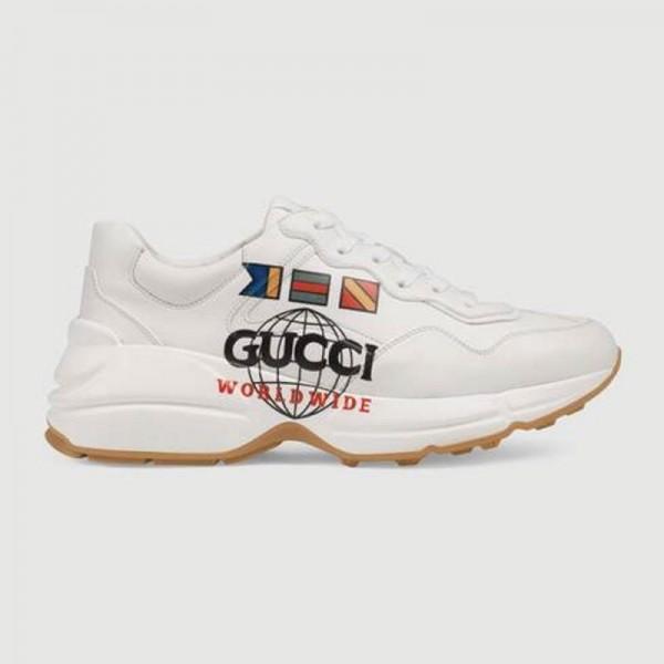 Gucci Rhyton Worldwide Ayakkabı Kadın Beyaz