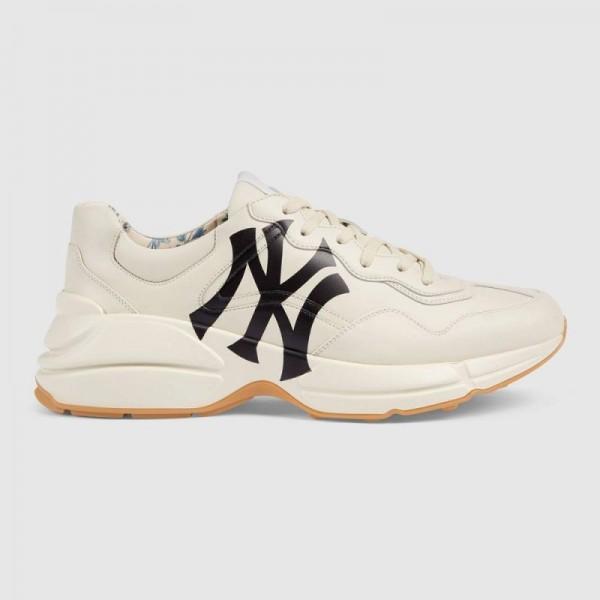 Gucci Rhyton Yankees Ayakkabı Erkek Beyaz