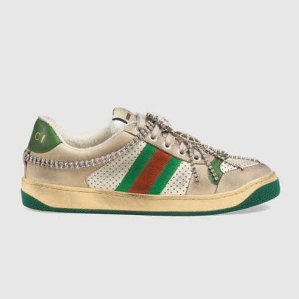 Gucci Screener Ayakkabı Kadın Yeşil