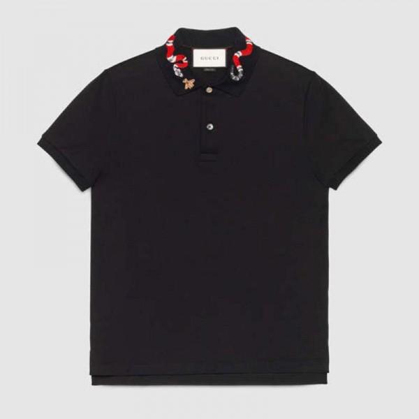 Gucci Snake Tişört Siyah Erkek