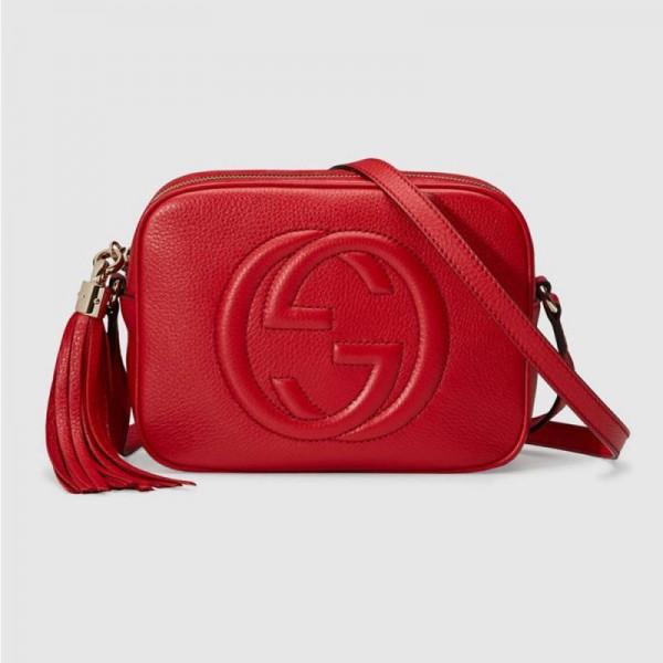 Gucci Soho Small Çanta Kırmızı Kadın