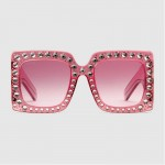 Gucci Square Gözlük Pembe Kadın