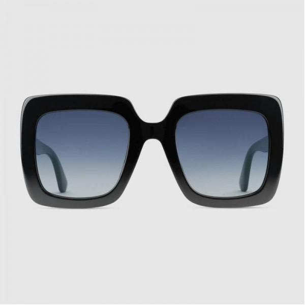 Gucci Square Gözlük Siyah Kadın