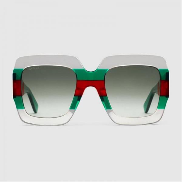 Gucci Square Gözlük Transparan Kadın