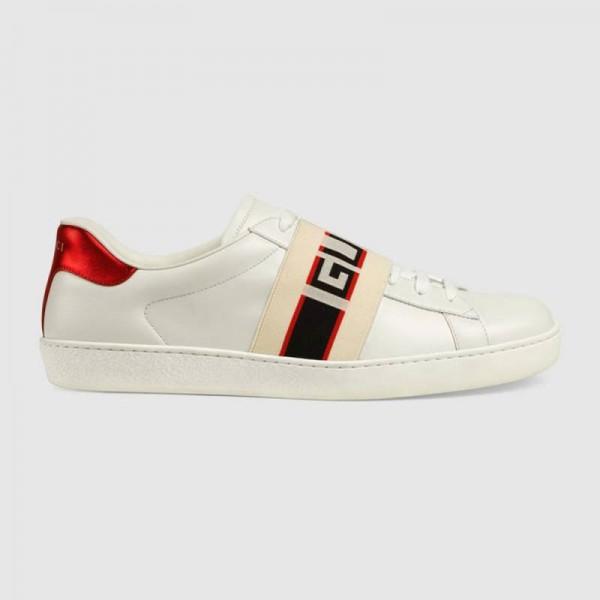 Gucci Stripe Ayakkabı Beyaz Erkek