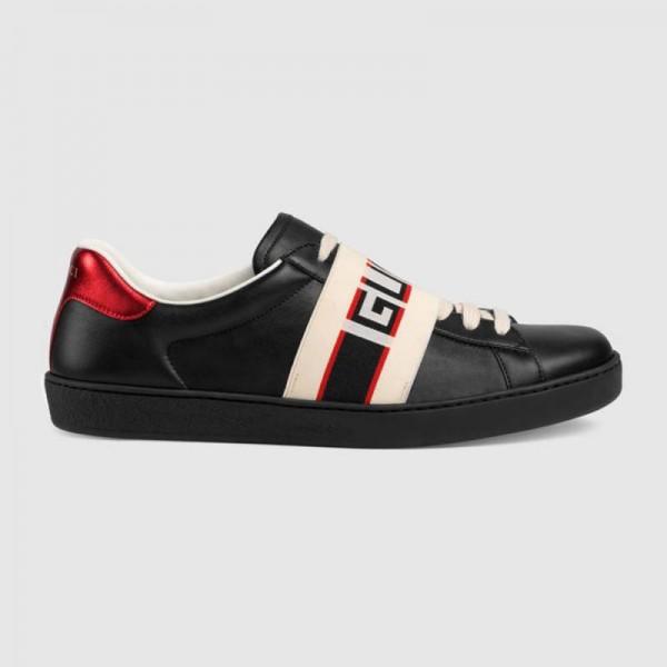 Gucci Stripe Ayakkabı Siyah Erkek