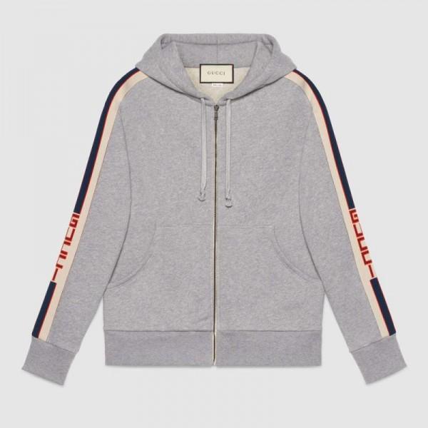 Gucci Stripe Sweatshirt Gri Erkek