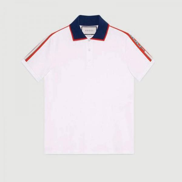 Gucci Stripe Tişört Beyaz Erkek
