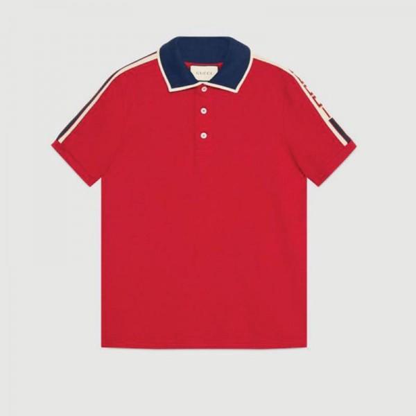 Gucci Stripe Tişört Kırmızı Erkek