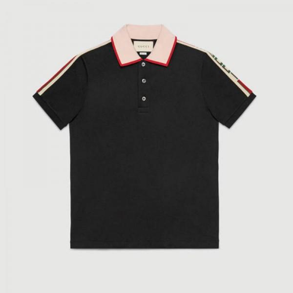 Gucci Stripe Tişört Siyah Erkek
