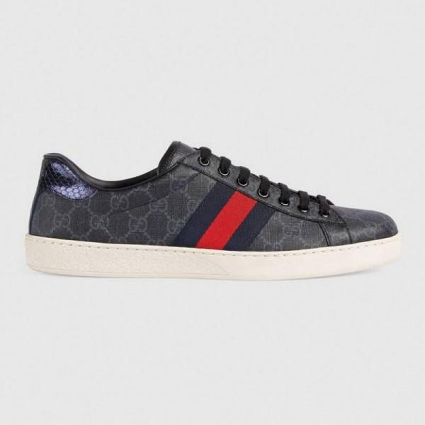 Gucci Supreme Ayakkabı Erkek Siyah